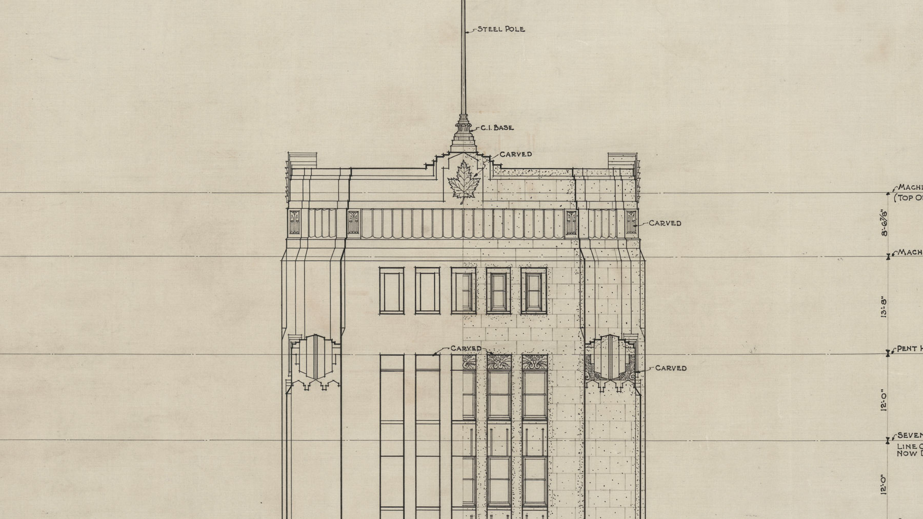 The Dominion Public Building: The Architectural Drawings - Elevation